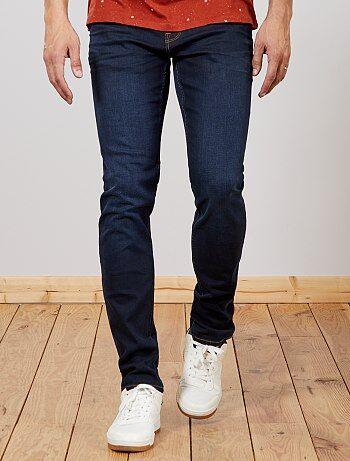 Taglie forti Uomo - Jeans slim cotone stretch L36 + 1 m 90 - Kiabi