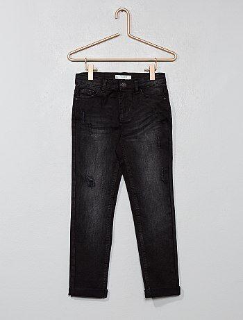 Bambina 3-12 anni - Jeans slim denim effetto usura - Kiabi