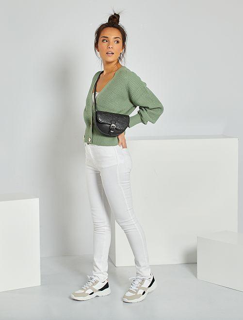 Jeans slim eco-sostenibili                                                                 bianco neve
