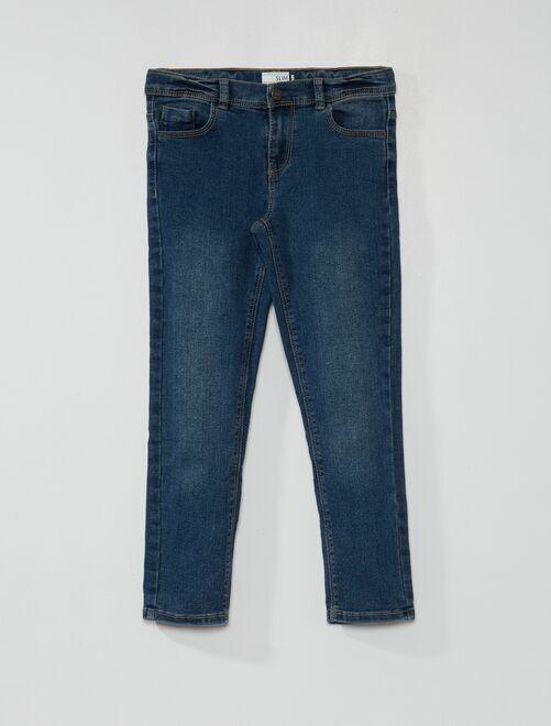 Jeans slim eco-sostenibili                                                     BLU