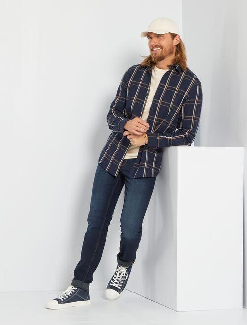 Jeans slim eco-sostenibili L34                                                                                         blu indaco