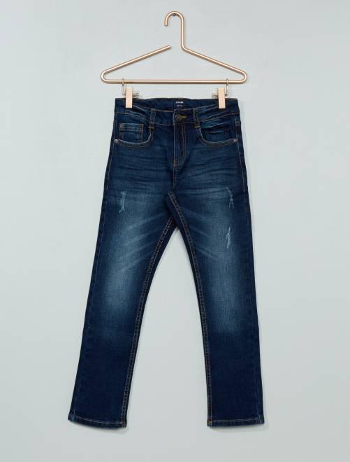 Jeans slim effetto delavé                                                     brut Infanzia bambino