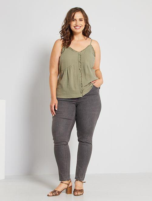 Jeans slim effetto push up                                                                                 grigio scuro