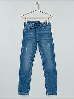Jeans a sigaretta (slim) - Jeans slim effetto usura - Kiabi