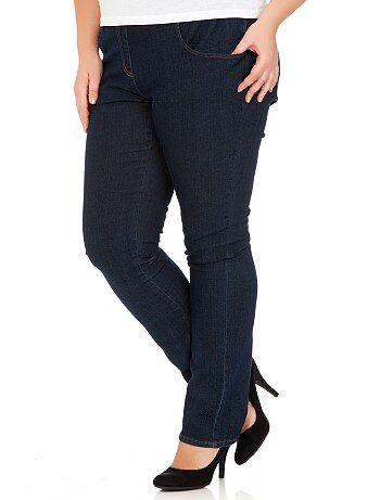 Jeans slim elastico in vita cavallo 78 cm