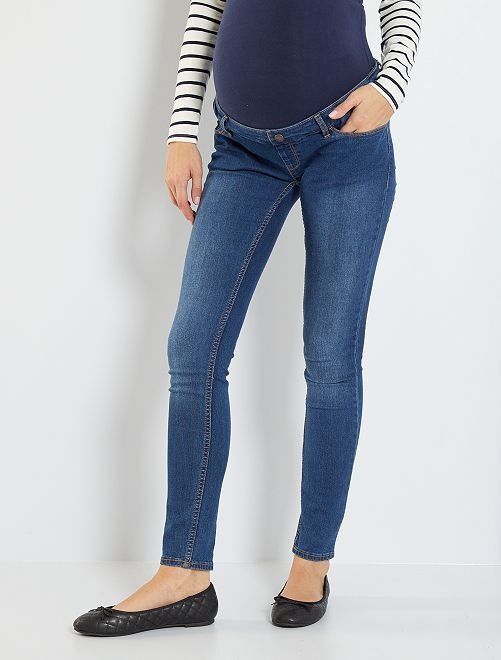 Jeans slim fit premaman eco-sostenibili                                                                 BLU