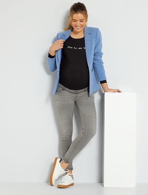 Jeans slim fit premaman                                                                 GRIGIO