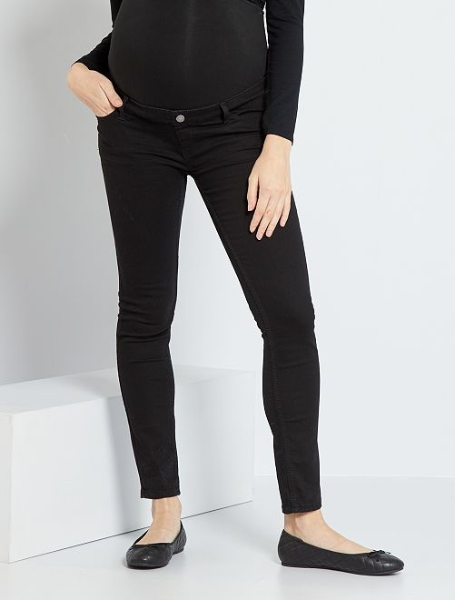 Jeans slim fit premaman                                                                 NERO