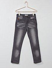 Jeans slim fodera pile
