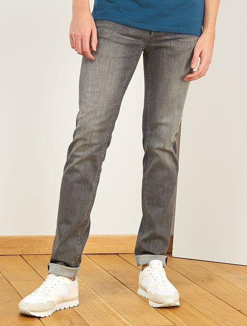 Jeans slim L36 + 1 m 90                             GRIGIO