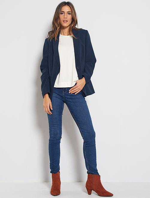 Jeans slim lunghezza US32 eco-sostenibili                                                     BLU