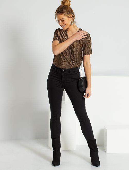 Jeans slim lunghezza US32 eco-sostenibili                                         NERO