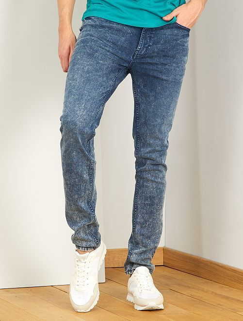 Jeans slim neve L38 + 1 m 95                             BLU