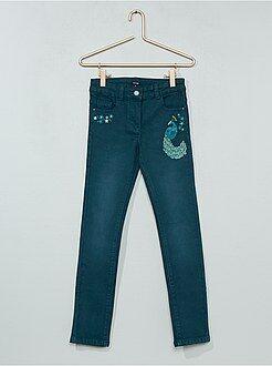 Jeans a sigaretta (slim) - Jeans slim ricamati - Kiabi