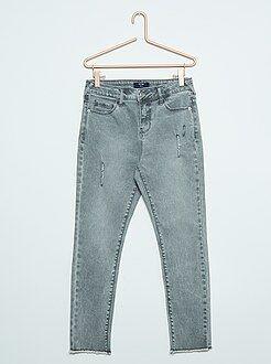 Jeans - Jeans slim segni di usura