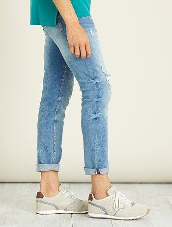 Jeans slim stretch abrasioni - Kiabi