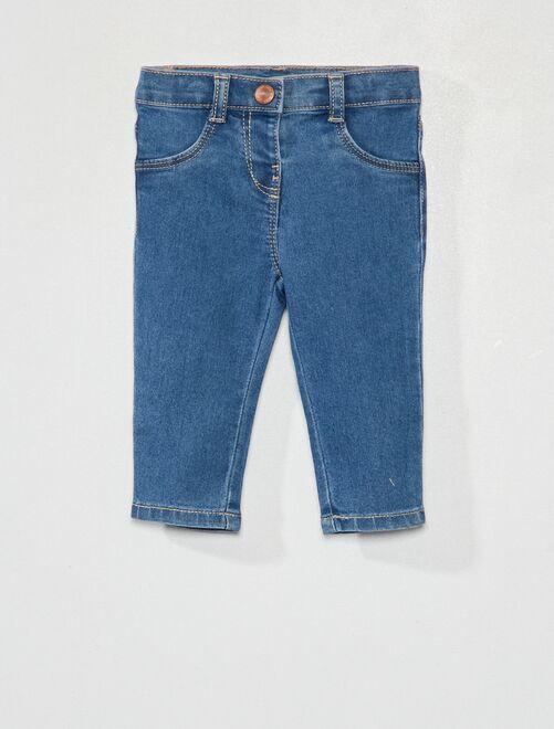 Jeans slim stretch eco-sostenibili                                         BLU