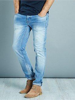 Jeans slim - Jeans slim stretch leggeri segni di usura