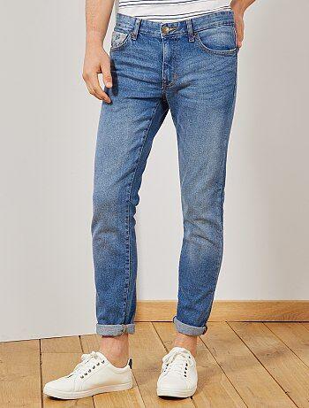 13bb9f47048720 Jeans slim tasca stampata - Kiabi