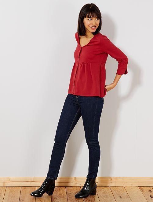 Jeans slim vita alta                             BLU Donna