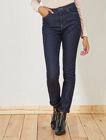 Donna dalla 38 alla 52 - Jeans slim vita alta fodera pile - Kiabi