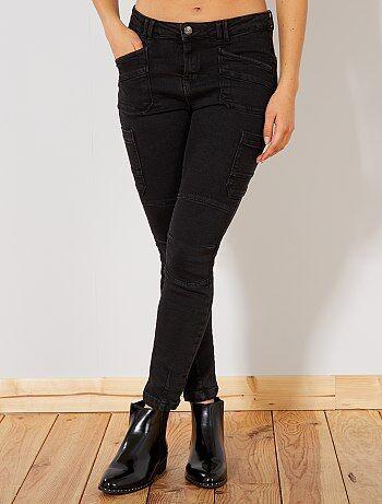 Donna dalla 38 alla 52 - Jeans slim vita alta stile cargo - Kiabi