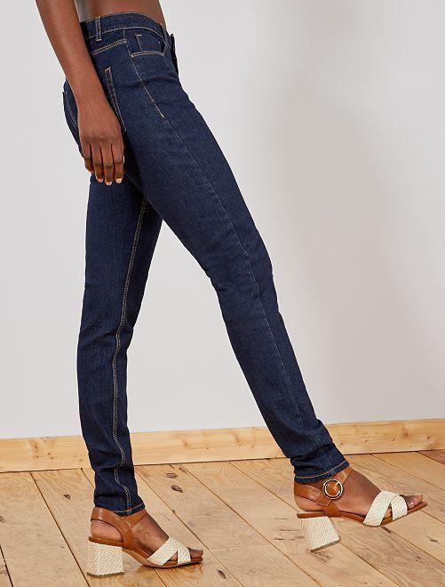 6c259fed416f Jeans slim vita molto alta - Lunghezza US 30 Donna - blu - Kiabi - 8,00€