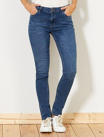 Donna dalla 38 alla 52 - Jeans slim vita molto alta - Lunghezza US 30 - Kiabi