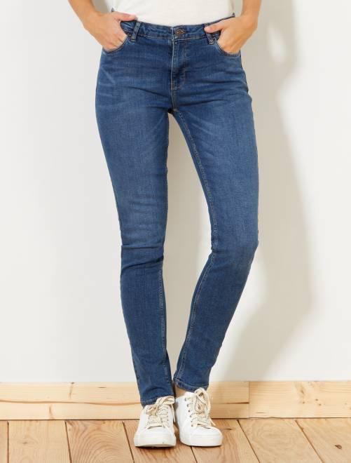 Jeans slim vita molto alta - Lunghezza US 30                                                     BLU Donna