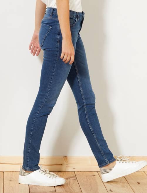 8fec3b8194e8 Jeans slim vita molto alta - Lunghezza US 30 Donna - BLU - Kiabi ...
