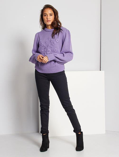 Jeans slim vita molto alta - Lunghezza US 30                                                     denim black