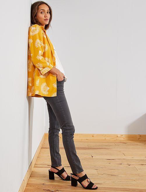 Jeans slim vita molto alta - Lunghezza US 30                                                     grigio scuro