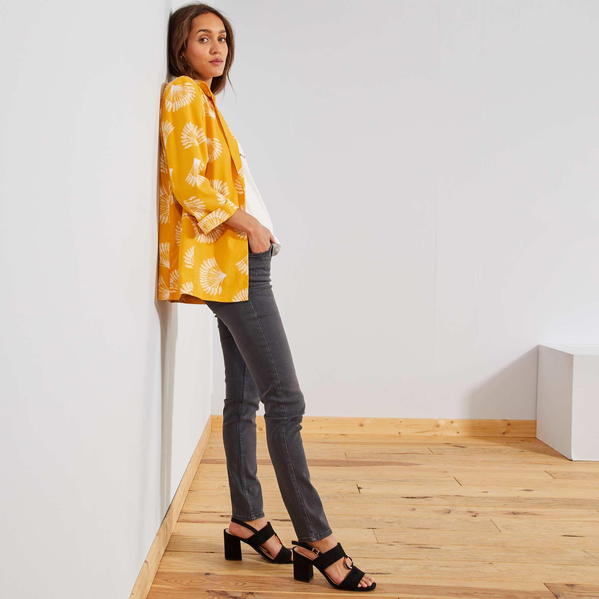 8ba55b1655a2 Jeans slim vita molto alta - Lunghezza US 30 grigio scuro Donna. Loading  zoom