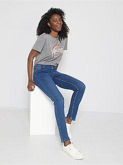 Donna dalla 38 alla 52 Jeans slim vita molto alta - Lunghezza US 30