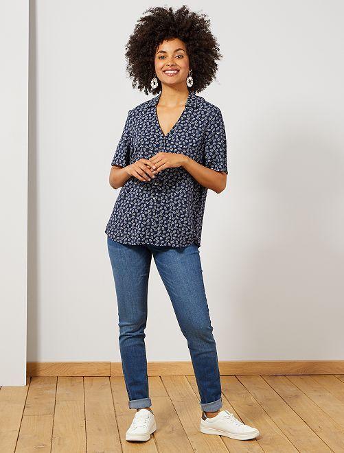 Jeans slim vita molto alta - Lunghezza US32                                                                             BLU Donna