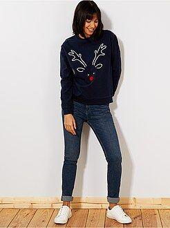 Donna dalla 38 alla 52 Jeans slim vita molto alta - Lunghezza US32