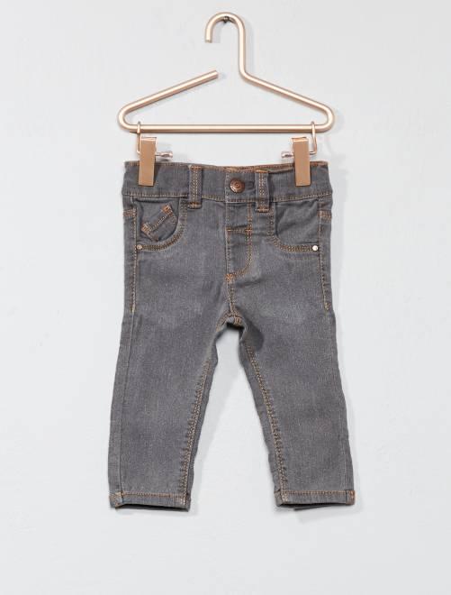 Jeans slim vita regolabile                                         GRIGIO Neonato