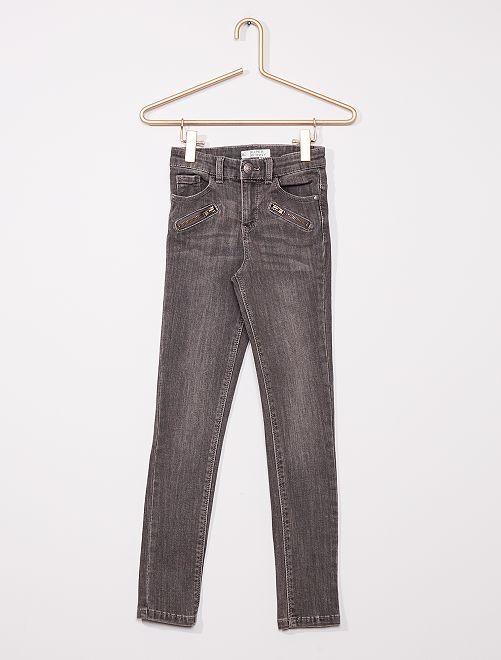 Jeans super skinny bambina di corporatura esile                                         GRIGIO