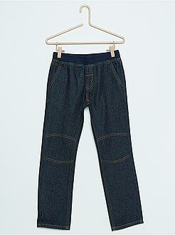 Denim - Jeans taglio dritto elastico in vita
