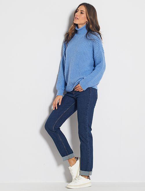 Jeans taglio regular lunghezza US32                                         BLU