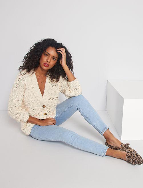Jeans taglio slim                                                     BLU