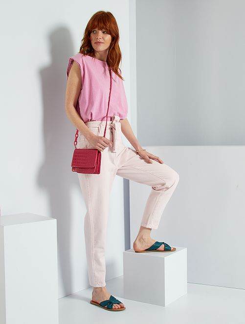 Jeans taglio slouchy                                         rosa lavanda