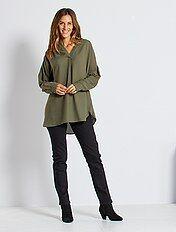 Jeans vita alta taglio regular stretch