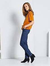 Jeans vita alta taglio regular stretch