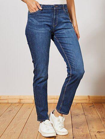 Donna dalla 38 alla 52 - Jeans vita alta taglio regular stretch - Kiabi