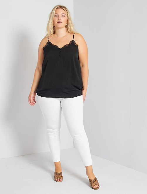 Jeggings skinny denim stretch                                                                                         bianco
