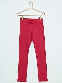 Pantaloni - Jeggings tessuto felpato