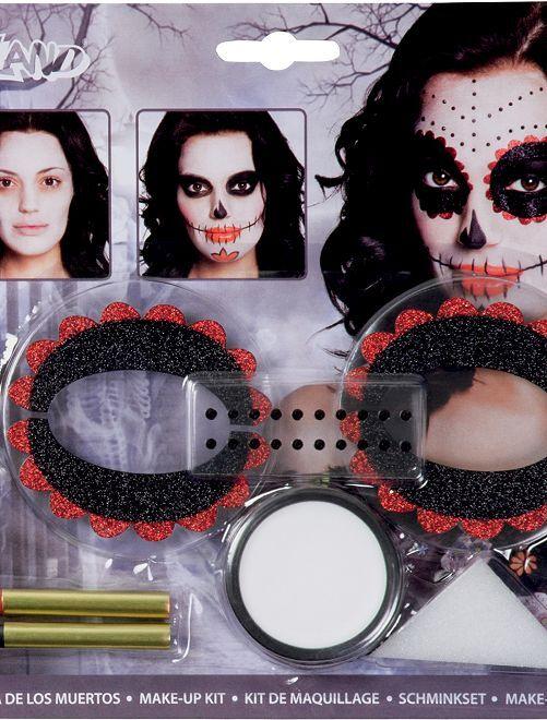 Kit make-up 'El dia de los muertos'                             nero/rosso
