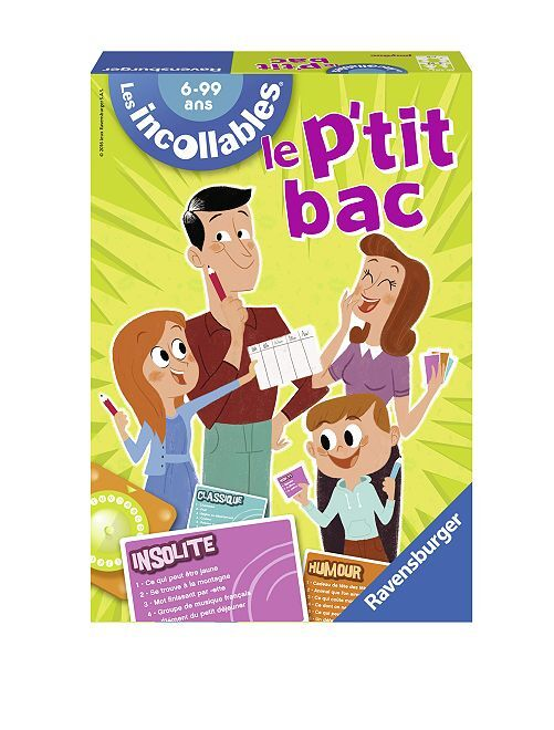 'Le p'tit bac' de 'Les Incollables'                             multicolore