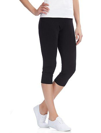 Leggings corti elastico in vita